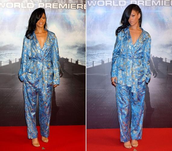 Rihanna szintén az egyedi stílusú sztárok közé tartozik, így nem meglepő, hogy ő is szívesen viseli a hálóruhára emlékeztető szerkót. Bár a 26 éves sztár júniusi, teljesen átlátszó ruháját már nehéz lesz felülmúlni, katt a képekért!