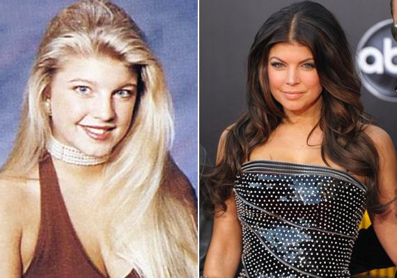 Fergie tablófotóján még egy természetes szépség mosolyog vissza az emberre, de az énekesnő mostani nevetése már egészen mű.