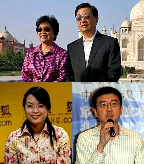 Hu Csin-taoA Kínai Népköztársaság elnöke, a világ egyik legnagyobb hatalommal bíró embere.Feleségével az egyetemen ismerkedett meg, egy fiuk és egy lányuk született.