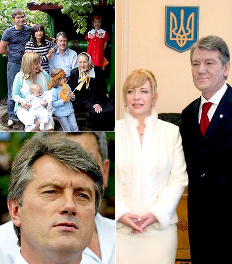 Viktor Juscsenko  Ukrán politikus, egykori miniszterelnök. Juscsenko kétszer nősült, második felesége a képen látható Katerina.  Két házasságából öt gyermeke és két unokája van. Fiai: Andrij és Tarasz, lányai: Vitalina, Szofija és Hrisztina, unokája: Jarina és Viktor.