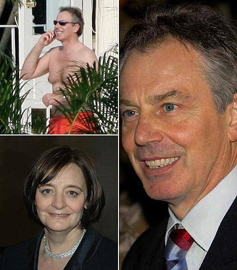 Tony BlairAz egykori brit miniszterelnököt Miami Beach-i nyaralásán kapták le félmeztelenül. Felesége Cherie Blair.Blair 2006. szeptember 7-én jelentette be, hogy lemond pártvezetői, illetve miniszterelnöki, valamint azzal járó egyéb tisztségeiről is. A miniszterelnöki posztot 1997 óta töltötte be.