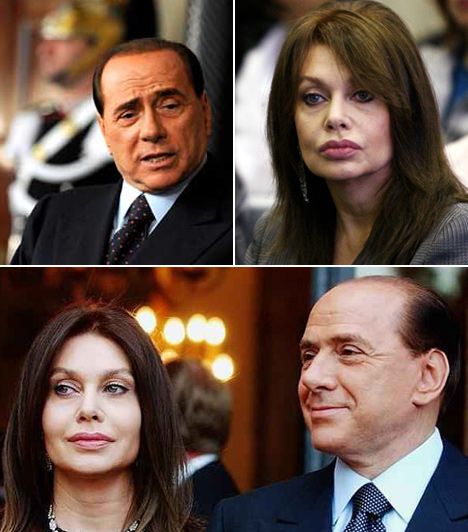 Silvio BerlusconiAz olasz kormányfő felesége 2009-ben jelentette be, hogy elválik férjétől. Veronica Lario elmondta, az utolsó csepp az volt, hogy a férje nem mondta el neki, hogy részt vesz annak a 18 éves lánynak a buliján, aki állítólag a szeretője.