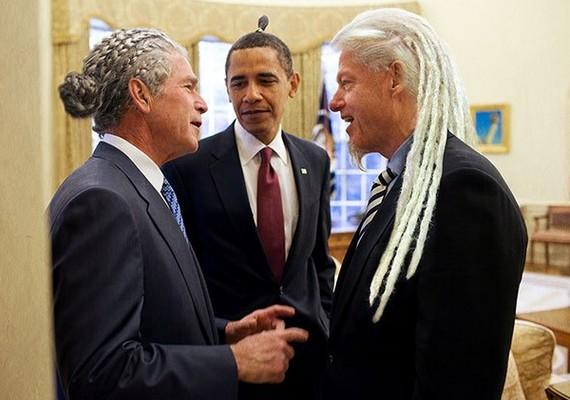 Ha Bush és Obama kontyával már nem tudunk újat mutatni, felhívnánk a figyelmedet Clinton kis kecskeszakállára.
