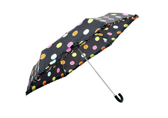 Egy hozzá passzoló pöttyös esernyővel tökéletes lehet a szetted.