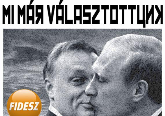Utalás egy 1990-es fideszes választási plakátra, mely talán a legemblematikusabb abból az időből.