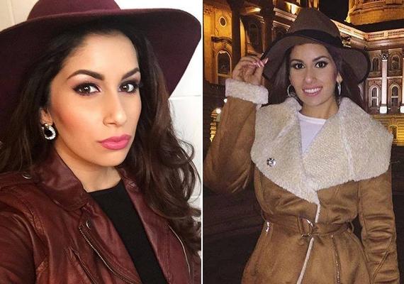 Giginek többféle kalapja is van, és most, hogy itt a hideg idő, szívesen viseli őket. Ezt a két képet osztotta meg a napokban.