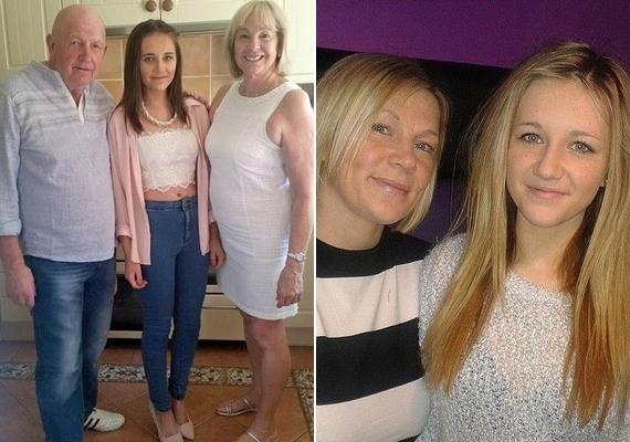 Így nézett ki a 15 éves lány, mielőtt kihullott a haja. Édesanyja és nagyapja mindenben támogatják - utóbbi nemrég szintén megküzdött a rákkal, de felgyógyult, így ő Katie-Lily fő inspirálója.