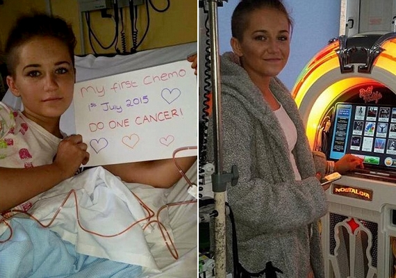 A kórházban is nagyon pozitív, az első kemoterápia alkalmával azt üzente a ráknak, hogy tehet egy szívességet. Ha a kezelés után elég erőt érez magában ahhoz, hogy felkeljen az ágyból, még a játékgépet is használni szokta.