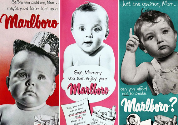 - Mielőtt leszidnál, anyu, gyújts rá egy Marlboróra! Ma már egyáltalán nem is szabad dohányárut reklámozni, pláne nem kisbabákkal.