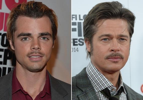 Reid Ewing úgy próbálta fokozni a hasonlóságot Brad Pitt-tel, hogy az öltözködési stílusát és a frizuráját is leutánozta. Szerinted hasonlít példaképére a 27 éves sztár?