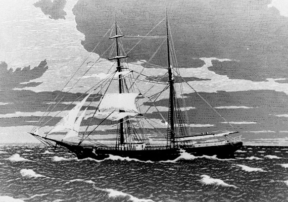 A Mary Celeste 1872. november 7-én indult útjára, ám a legénységét soha nem látták viszont - annak ellenére, hogy a hajónak semmi baja nem esett.