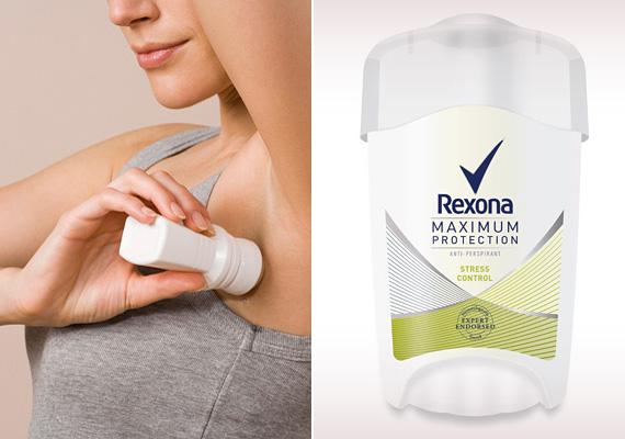 Izzadságfolt                         Az, hogy izgulsz egy állásinterjú előtt, természetes. De ha ez izzadságfolt formájában meg is látszik a ruhádon, az már nem kelt túl jó benyomást az interjúztatóban.                         Ez ellen két dolgot tehetsz: használj megbízható dezodort, ami még a stressz hatására fokozottabb mértékben jelentkező izzadás ellen is védelmet nyújt. Ilyen például a Rexona új fejlesztésű dezodora, a Rexona Maximum Protection. Másrészt válassz olyan felsőt, amelyen kevésbé látszik meg az izzadságfolt.