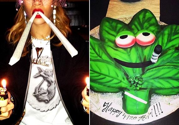 Rihanna nem csinál titkot belőle, hogy kedveli a marihuánát: előszeretettel oszt meg a rajongóival olyan fotókat, amelyeken keresztül ezt demonstrálja.