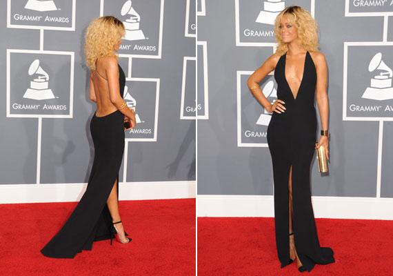 Azt senki nem tagadhatja, hogy Rihanna tökéletes alakján jól mutatott a fekete estélyi.