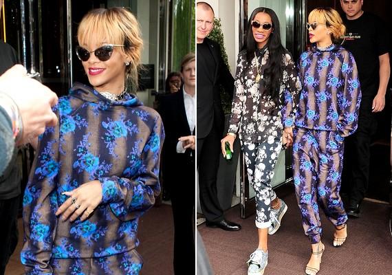 Másnap meglepő, pizsamaszerű ruhában léptek ki a hotelből az utcára.
