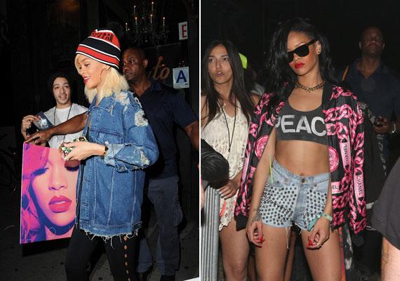 Nem ez az első alkalom idén, hogy Rihanna érdekes összeállításban jelenik meg a nyilvánosság előtt.