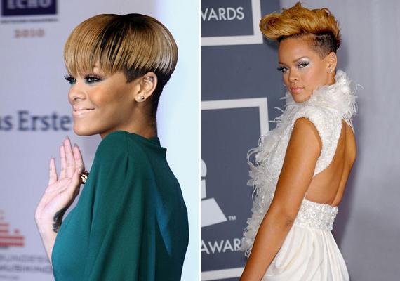A vörös szőnyeges eseményekre Rihanna szívesen visel erős sminket. Néha a szemét hangsúlyozza...