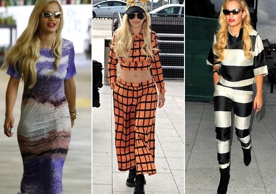 Rita kétségtelenül sokoldalú: van, hogy hippinek, van, hogy bohócnak öltözik - mintha mindig jelmezbálba készülne.
