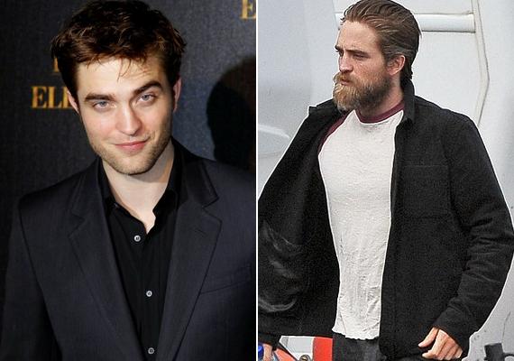 Ilyen volt, ilyen lett: Robert Pattinson alaposan átalakult a szerep kedvéért. Lesifotósok kapták le egy forgatási szünetben a hatalmas szakállal.