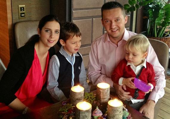 A Rogán család advent utolsó vasárnapján.