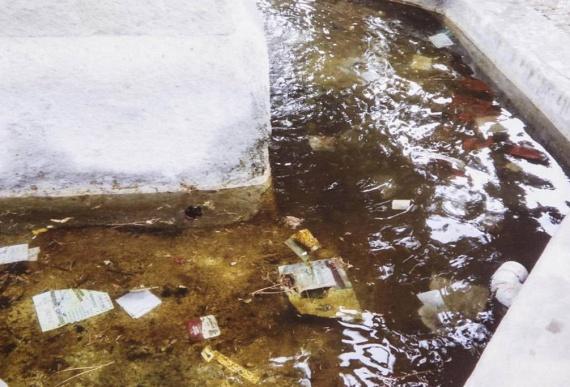 A közeli szökőkút vize szemetes és piszkos. A Corriere Roma arra vonatkozó kérdésére, miszerint mi történt az itt élő kóbor macskákkal, az egyik hajléktalan állítólag azt válaszolta: megették az összeset.