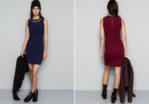 Több színből is válogathatsz, ha a Pull&Bear 4995 forintos ruháját választod. Akkor tedd ezt, ha fiús, vékony alkatod van, a zárt nyak optikailag növeli a melleket, a szűk fazon pedig kiemeli a karcsúságodat.