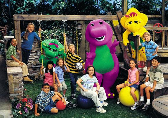 Barney egy vidém dinoszaurusz, aki dalaival tanítja a tévénéző gyerekeket.