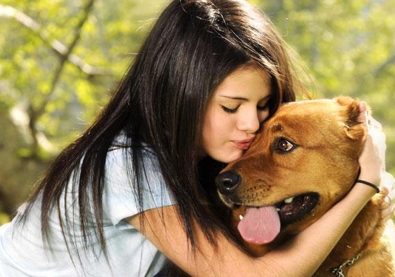 Imádja az állatokat, hat saját kutyája van.