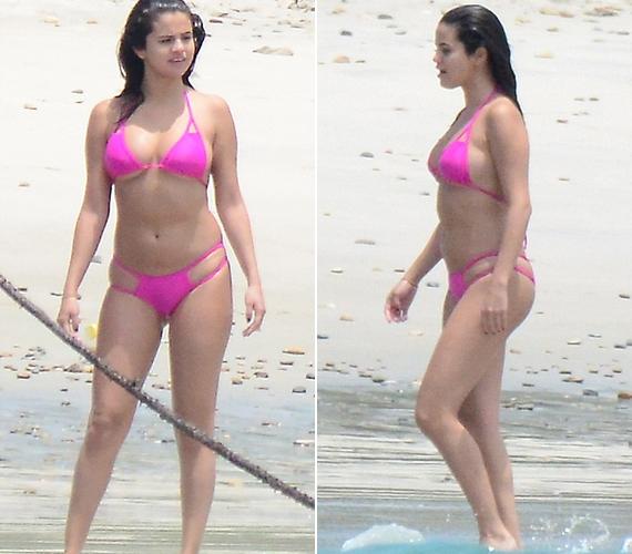 Selena Gomez a barátaival nyaral Mexikóban, ott készültek róla ezek a képek szerdán.