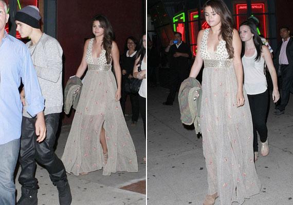 Selena ragyogóan nézett ki maxiruhájában, Justin viszont nem igazán öltözött ki a randira.