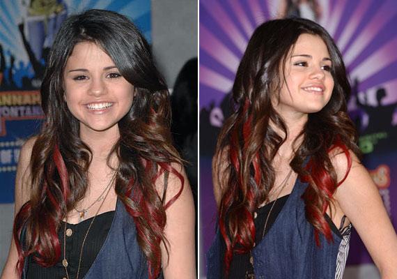 Selena korábban már a vörös melírt is kipróbálta.