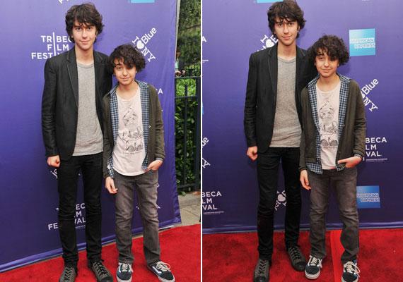 Kisöccsével, Alex Wolffal még 2011-ben, egy filmfesztiválon.