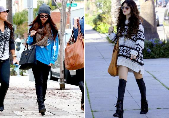 Selena utcai ruhái régebben egyszerűek és lazák voltak.