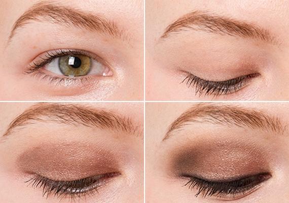 Csuklyás szem                         A rejtett szemhéj kiemelésénél fontos, hogy lealapozd a szemhéjad. Ezután használj bronzos festéket a mozgó szemhéjon, amit matt feketével érdemes árnyékolni a külső szemzugnál. Ne használj nagyon csillámos festéket, mert ez még inkább visszanyomja a szemet.