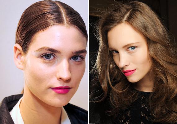 A fukszia és a pink rúzsok továbbra is a make up-paletta kedvencei lesz, és remekül passzolnak a hosszú szempillákhoz.