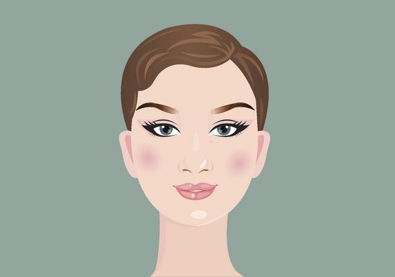 Kerek az arcformád, ha az arcod mérete széltében és hosszában majdnem megegyezik, a homlokod alacsony, és közel ugyanolyan széles, mint az állkapcsod. Gömbölyű az állad, és a homlokod szélessége kisebb, mint az arccsontok mentén mért érték. A kontúrozásnál az arccsont kiemelése és az arc keskenyítése a cél: a szemöldök felett és az arccsont alatt kell sötétítened, a szemed alatt és az arccsont között pedig világosítanod. Kattints ide a videóért!