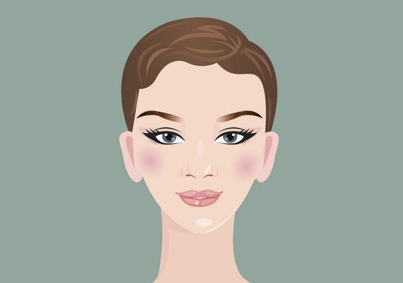 Szív alakú az arcformád, ha a homlokod szélessége nagyobb az arccsontnál mért értéknél és az állkapcsod szélességénél. Az arcod egy kicsivel hosszabb, mint amilyen széles, és hegyes az állad. A kontúrozásnál az áll kiemelése a cél: a halántékot, az állad hegyét és az arccsont alatti részt kell sötétítened, a highlightert pedig állkapocstól a száj felé ajánlott felvinned. Kattints ide a videóért!