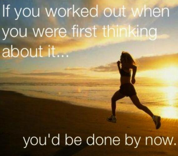 """""""Ha elkezdtél volna edzeni, amikor először gondoltál rá... mostanra már kész lennél."""""""