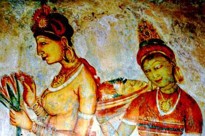 Sigirija: lenyűgöző freskók díszítik a falakat.