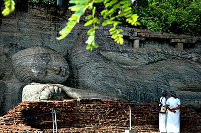 Polonnaruva: az egykor hétemeletes palota udvara.