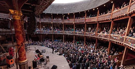 A londoni Globe Színház. Fotó: Helena Miscioscia