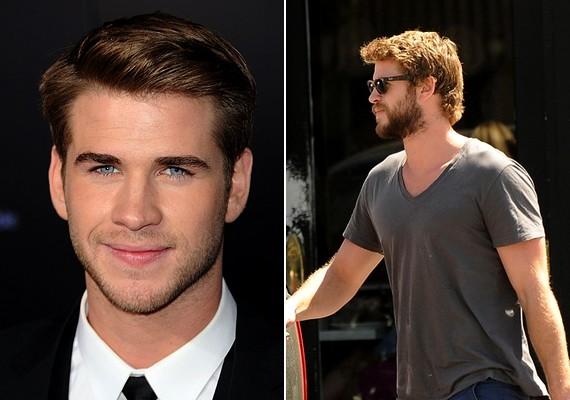 A még borostásan is kisfiús Liam Hemsworth már inkább egy ősemberre hasonlít. Vajon azért néz így ki, mert a Miley-val való kapcsolata hullámvölgybe jutott?