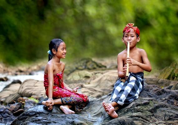 A gyerekekből árad a harmónia.