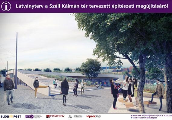 Az új Széll Kálmán tér kialakításánál elsősorban a gyalogosok és a kerékpárosok érdekeit tartják majd szem előtt.