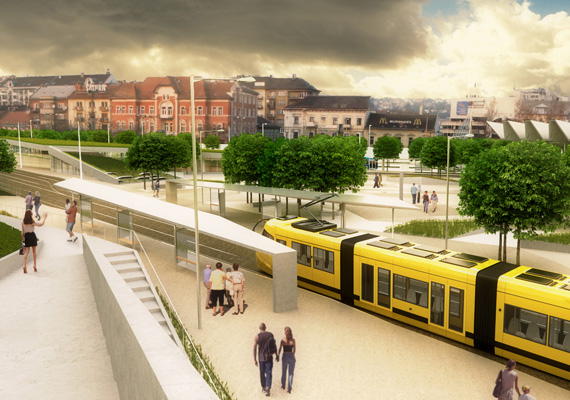 A legforgalmasabb megállót - a 4-es, 6-os villamosét - áthelyeznék a Széll Kálmán tér egy másik pontjára.