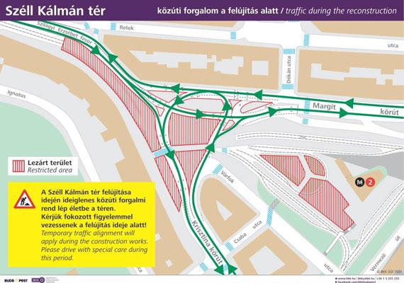 Egy térképet is közzétett a BKK a forgalmi rend aktuális állapotáról.