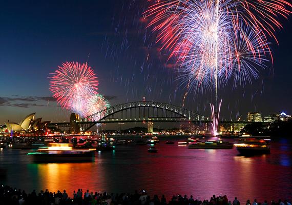 Az ausztráliai Sydney-ben minden évben lenyűgöző a tűzijáték.