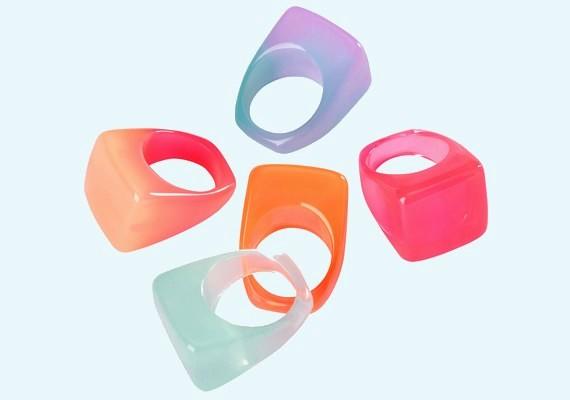 H&M gyűrűk, 1290 forint/5 darab.