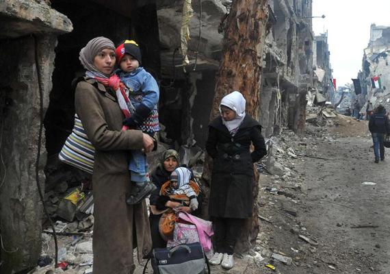 Szinte alig maradt valami a városból. Mindennapos látvány ez most Damaszkuszban.