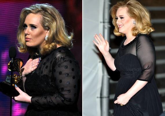 Adele arról volt híres, hogy nem akar megszabadulni a feleslegétől. Gyermeke születése előtt mégis leadott néhány kilót, de arra vigyázott, hogy hőn szeretett kerekded idomai megmaradjanak.